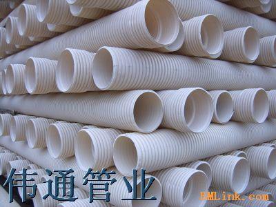 U PVC双壁波纹管 图片