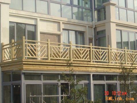 无锡阳台木花格,阳台防腐木装饰