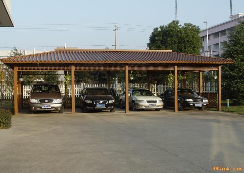 金属仿木纹停车棚 仿古仿木型材