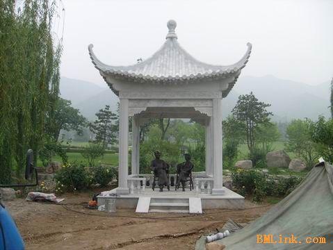 供应白色大理石凉亭、景观亭子、长廊