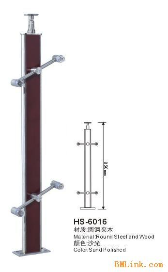 供应不锈钢夹木楼梯立柱