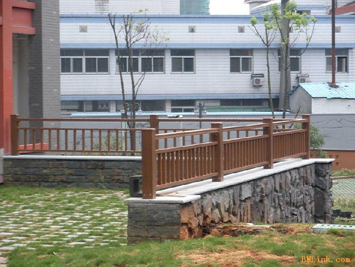 氟碳木纹庭院围栏-【效果图,产品图,型号图,工程图】