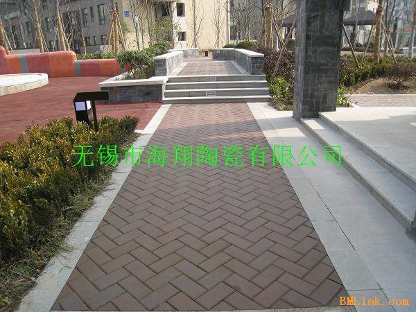 陶土烧结砖 路面砖 园林 砖 人行道 砖 效果图