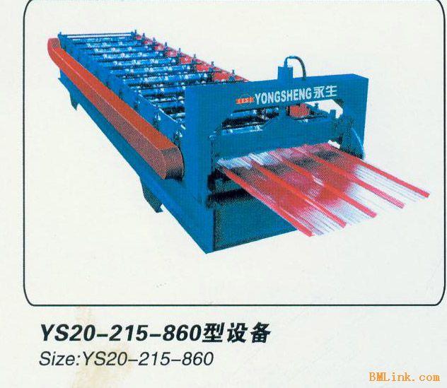 供应860型彩钢压瓦机设备