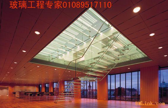 北京JA钢化安全防滑玻璃楼梯扶手防滑踏步地面安装