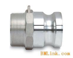 铝合金快速接头F型1/2寸凸轮槽式外螺纹快装公接头