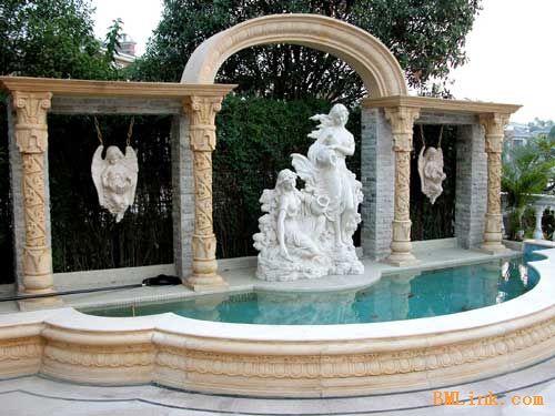 北京园林景观雕塑喷泉花盆雕塑