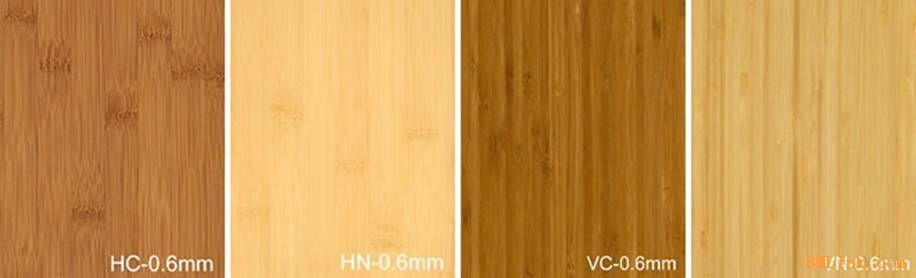 竹板材根据表面颜色可分为:本色