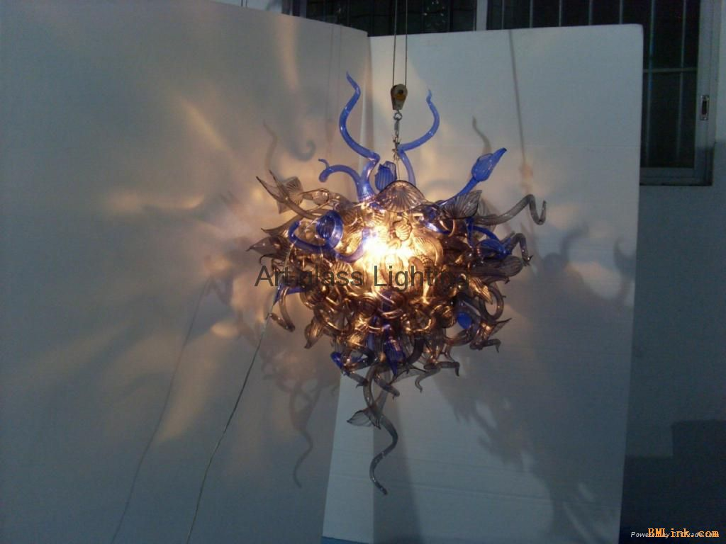 艺术玻璃吊灯-【效果图