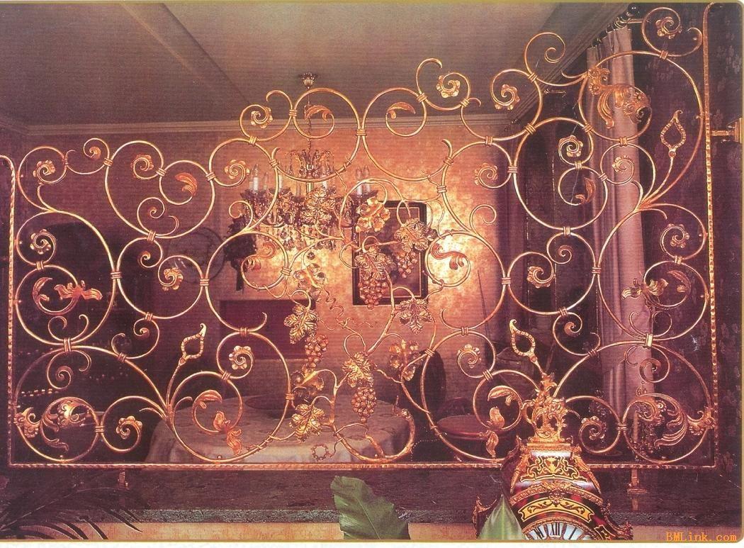 欧式木雕酒店屏风效果图