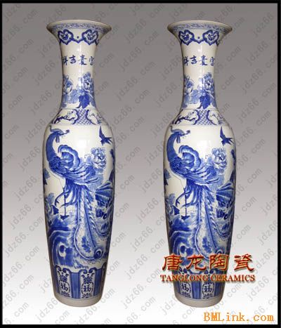 供应陶瓷大花瓶,青花瓷大花瓶,落地陶瓷大花瓶