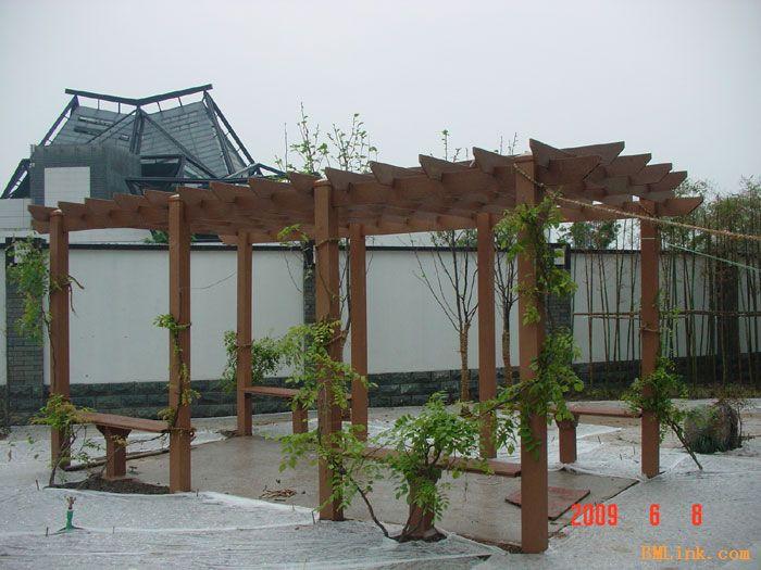 塑木花架,塑木葡萄架,杭州木塑