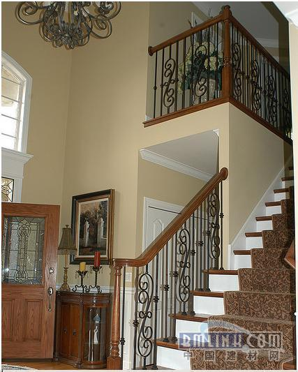 欧式铁艺楼梯图片,楼梯扶手