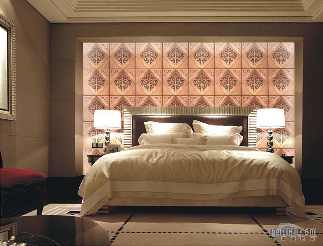 可配金色,香槟色铝合金拉丝边框  金色 香槟色艺术玻璃床后背景墙