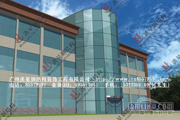 明框玻璃幕墙 点支式玻璃幕墙 观光电梯 钢结构消防