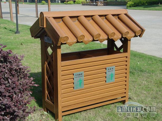 分类垃圾桶,木纹金属垃圾桶