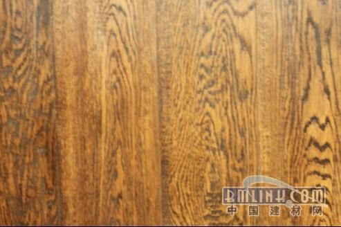 三层实木复合地板-柞木独面手刮巧克力色