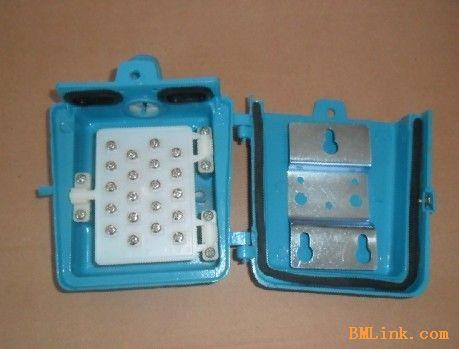10对电话分线盒 防水室外电话接线盒 高品质铝壳电话箱 全铜线柱; 全