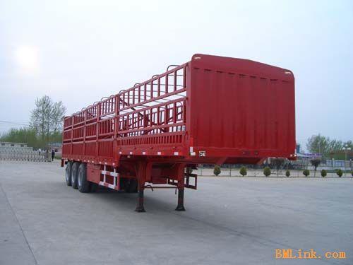 供应13米轻量化厢式运输半挂车,侧翻半挂车