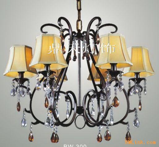 欧式典雅气质 铁艺水晶吊灯