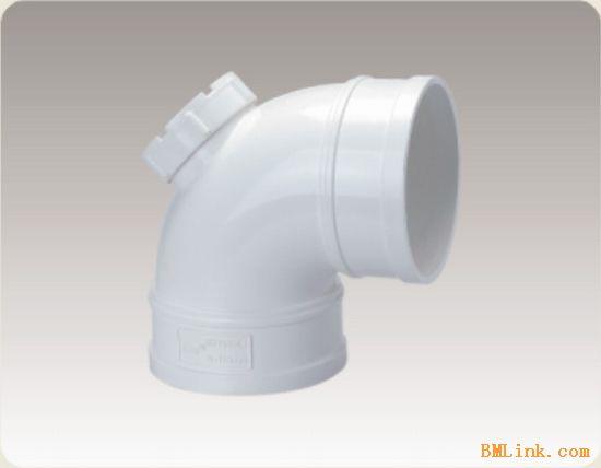 PVC管件PVC90度弯头90 检查口弯头带短半径弯头