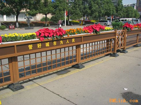 园林景观设计交通护栏-【效果图,产品图,型号图,工程