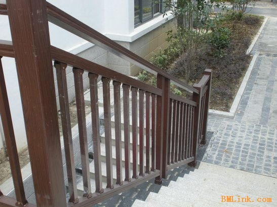 别墅装修安全楼梯扶手 户外楼梯扶手-【效果图,产品图