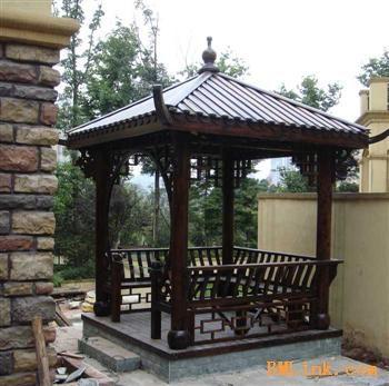 碳化木/户外凉亭/豪华型四角亭/碳化木家具