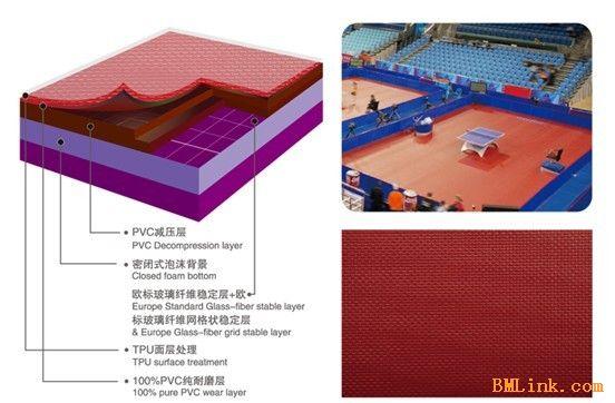 乒乓球室地胶价格 乒乓球室专用地板价格-【效果图