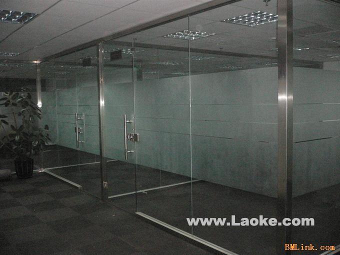 大型玻璃隔断价格大兴区店铺玻璃隔断价格-【效果图
