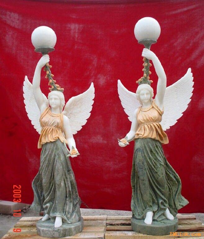 四川大理石彩色客厅走廊装饰欧式人雕塑摆件-【效果
