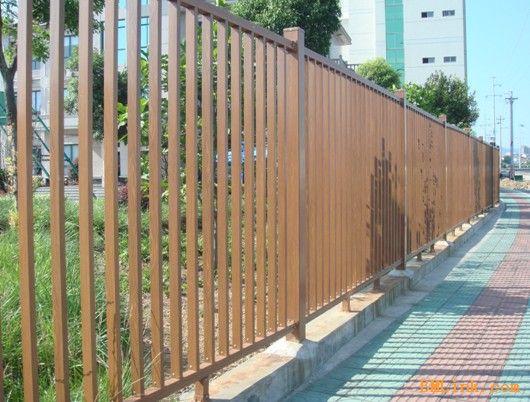 木纹铝合金围墙护栏-【效果图,产品图,型号