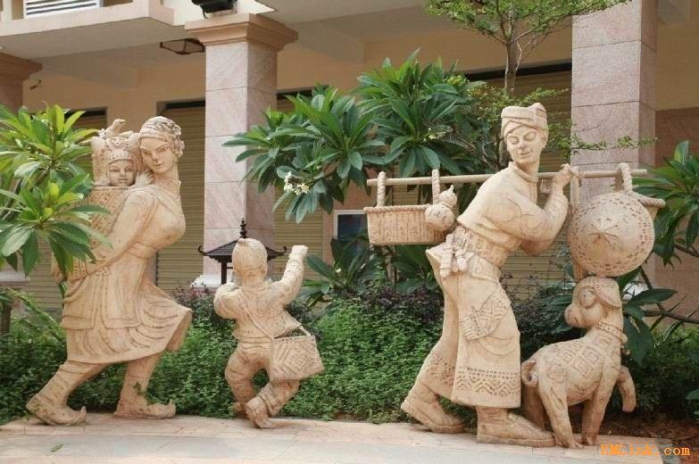 人造石雕塑 动物  校园雕塑  广州砂岩雕像