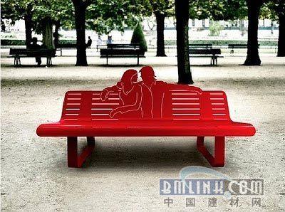 创意公园座椅设计手绘