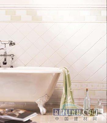 卫浴瓷砖铺贴 不同图案混搭的唯美设计