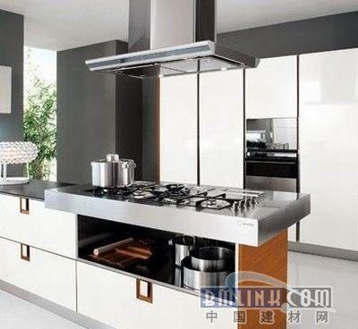 白色模压板整体橱柜 装点现代简约厨房