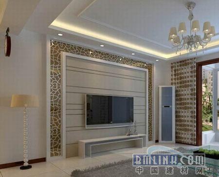2011最简单大方的客厅电视背景墙装修