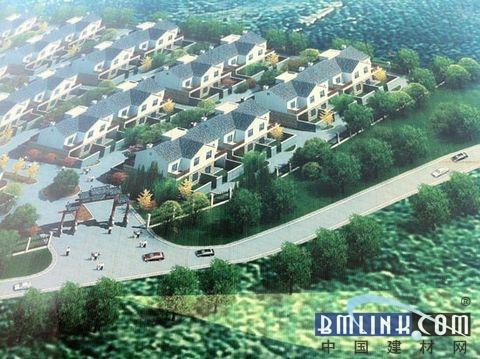 (铜陵市灰河乡马洼村新农村建设项目效果图)高清图片