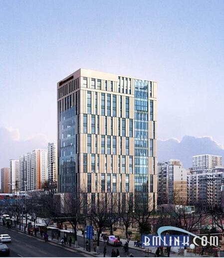 建筑高度59.55米,为钢筋混凝土框架结构