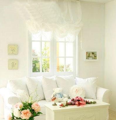 赏纯白色家居装修效果图