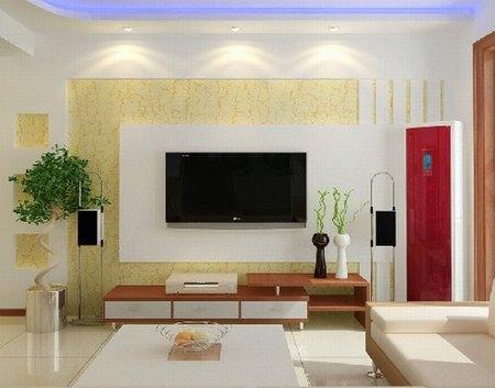 时尚客厅电视背景墙 激发装修设计灵感(图)
