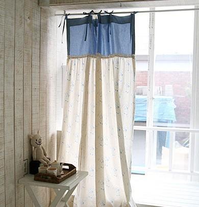 米色亚麻窗帘效果图