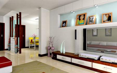 简约不失高贵 欧式电视背景墙装修(图)     现代家庭中的电视多为壁挂