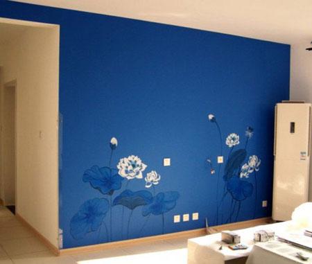 经典手绘电视背景墙点亮客厅装修(组图)
