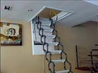 上海阁楼折叠楼梯生产厂家 电动折叠伸缩楼梯多少钱 上海楼梯