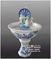 供应水车青花陶瓷喷泉空气加湿器