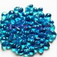 供应多彩琉璃石/透明彩石(Glassstone)--天蓝色